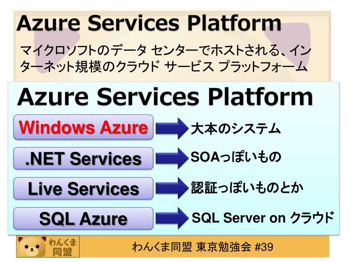 Azure Services Platform
