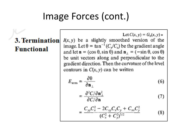 Image Forces (cont.)