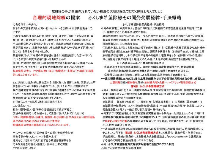 放射線のみが問題の汚れていない福島の大地は除染ではなく除線と考えましょう