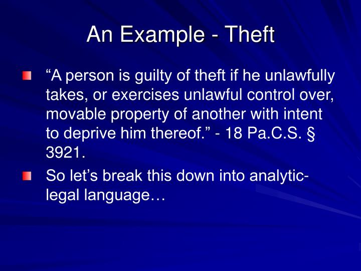An Example - Theft