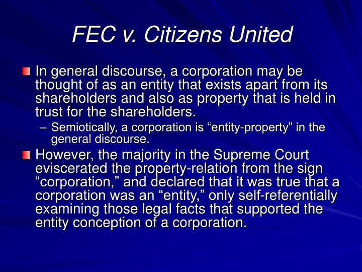 FEC v. Citizens United