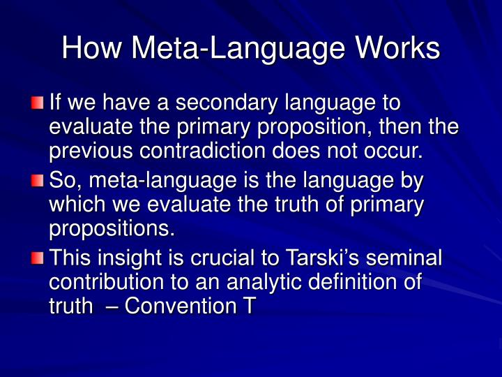 How Meta-Language Works