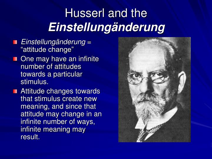 Husserl and the