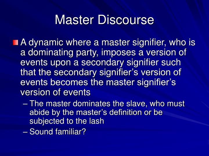 Master Discourse