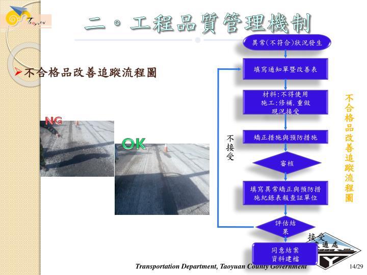 二。工程品質管理機制