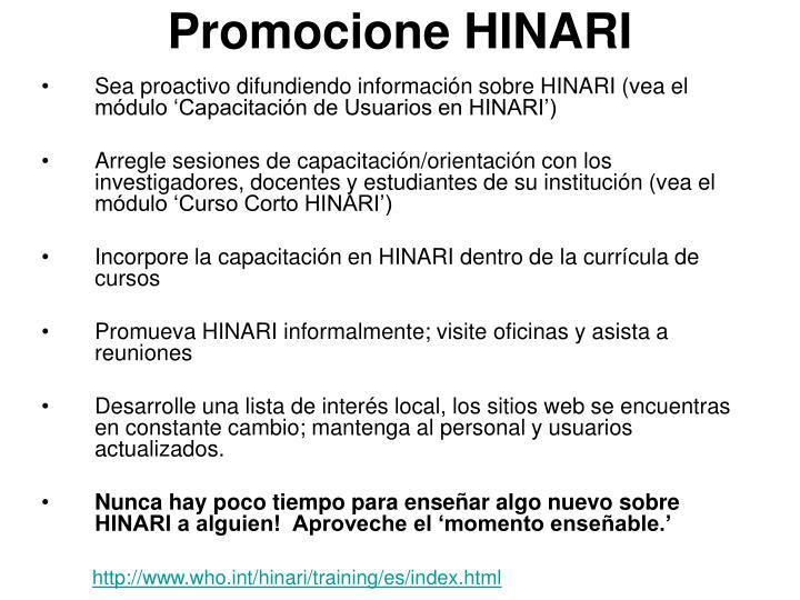 Promocione HINARI