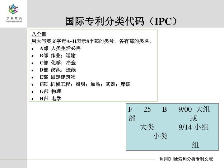 国际专利分类代码