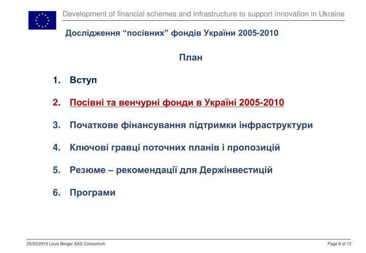 """Дослідження """"посівних"""" фондів України 2005-2010"""