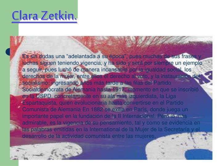Clara Zetkin.