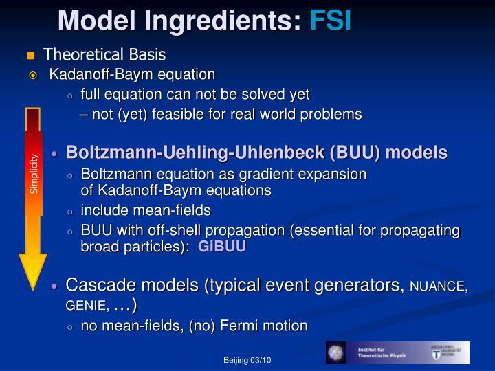 Model Ingredients: