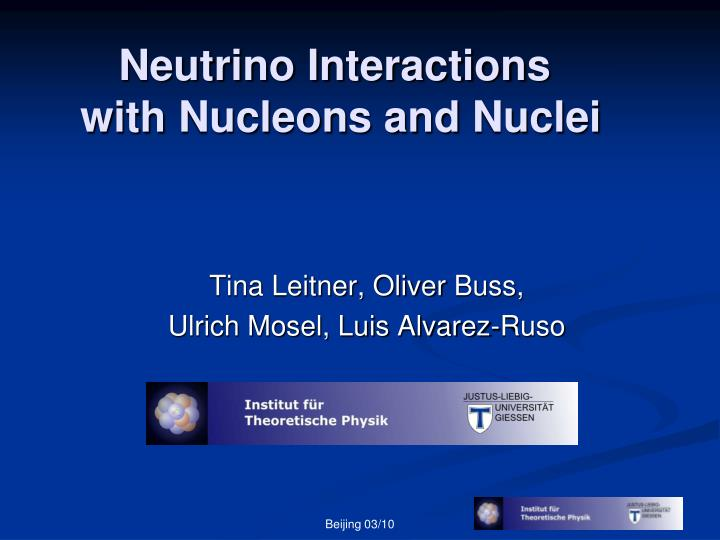 Neutrino interactions with nucleons and nuclei