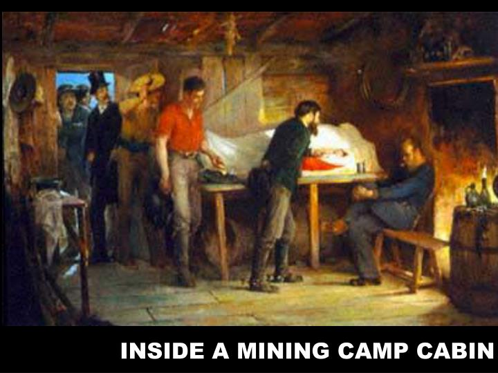 INSIDE A MINING CAMP CABIN