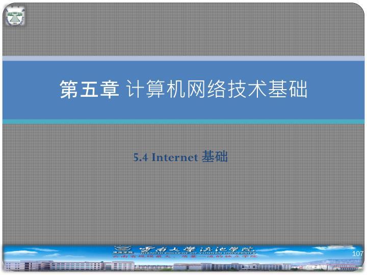 第五章 计算机网络技术基础