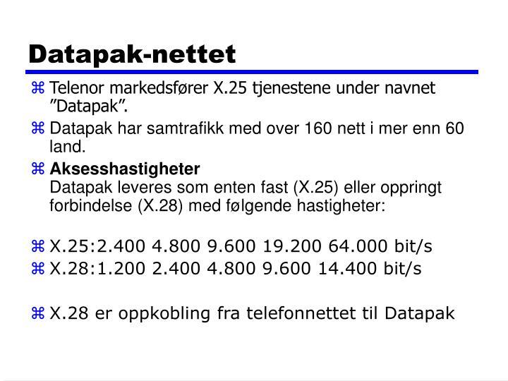 Datapak-nettet