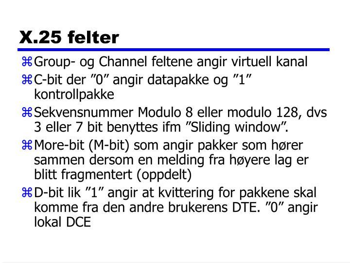 X.25 felter