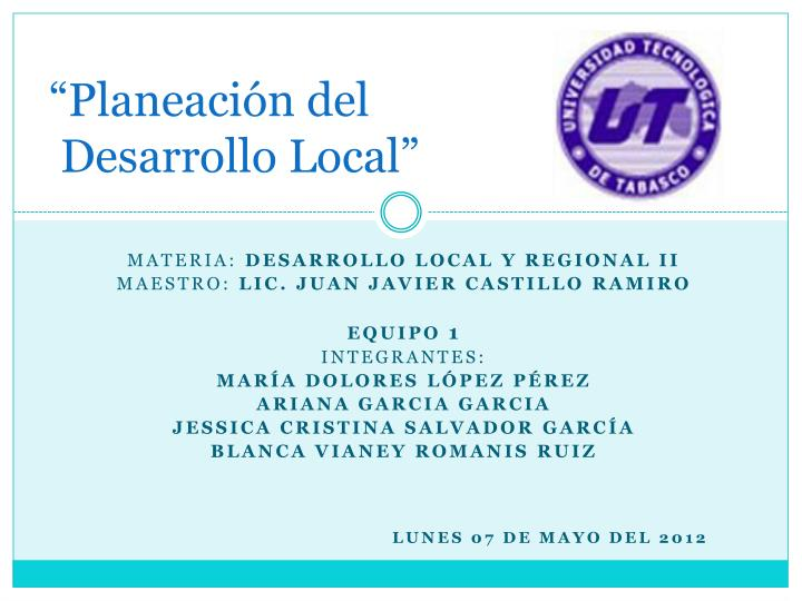Planeaci n del desarrollo local