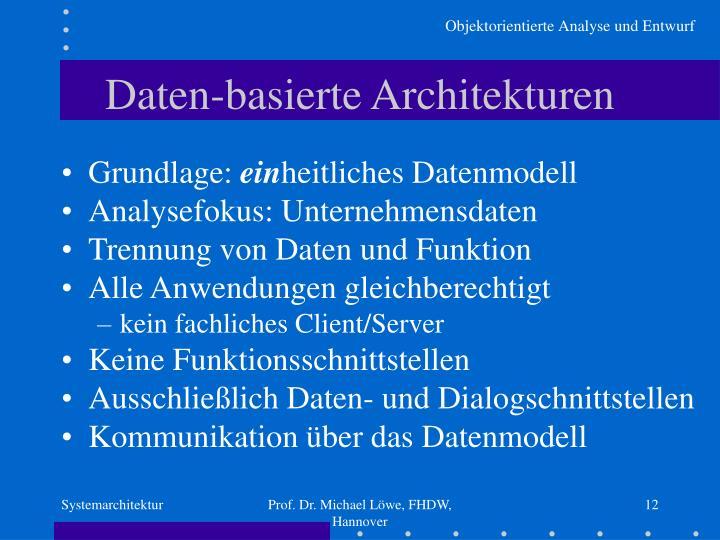 Daten-basierte Architekturen