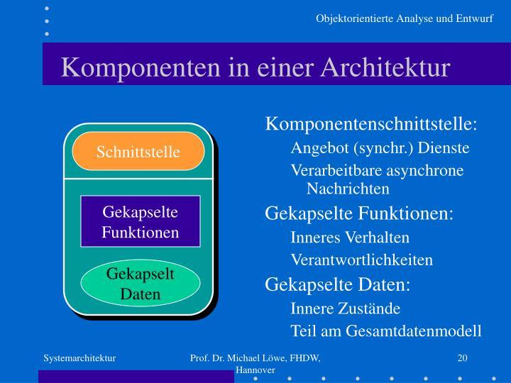 Komponenten in einer Architektur