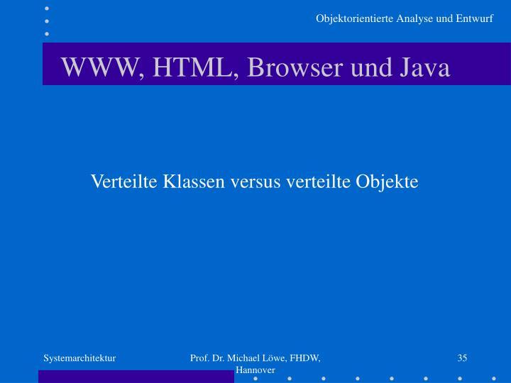 WWW, HTML, Browser und Java
