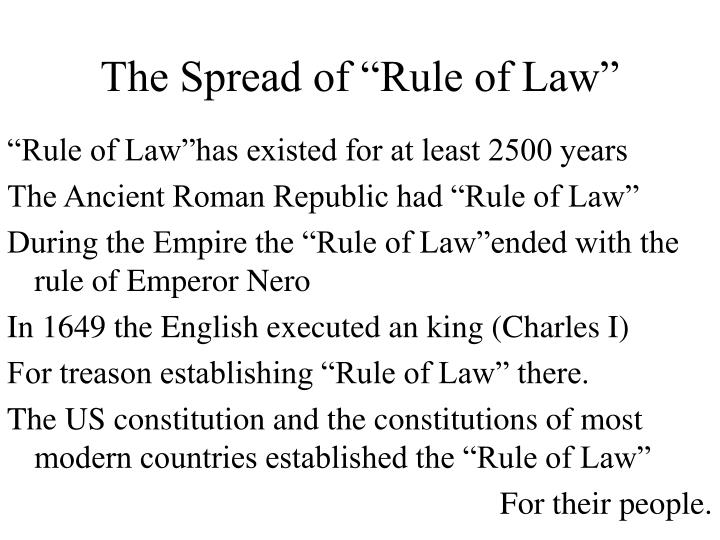 "The Spread of ""Rule of Law"""
