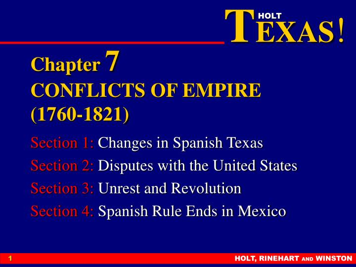 Chapter 7 conflicts of empire 1760 1821