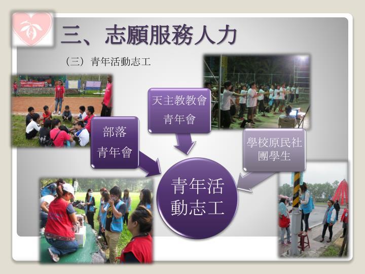 (三)青年活動志工