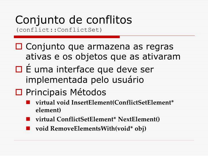 Conjunto de conflitos