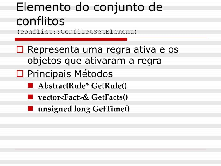 Elemento do conjunto de conflitos