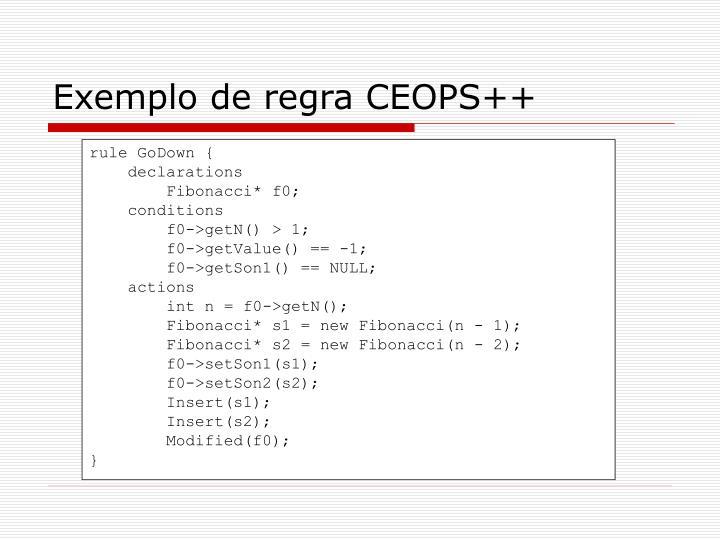 Exemplo de regra CEOPS++