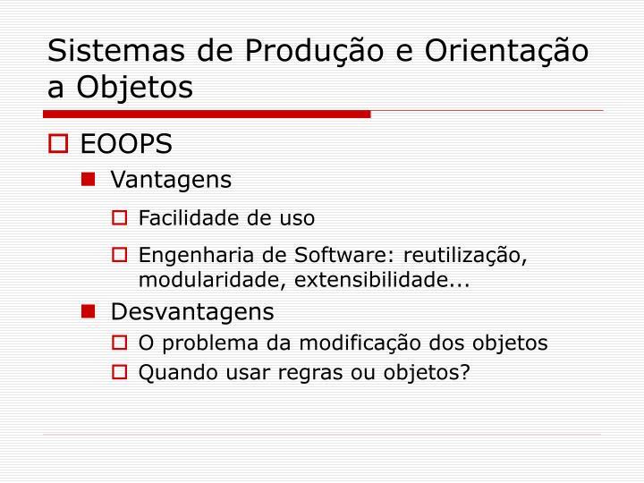 Sistemas de Produção e Orientação a Objetos
