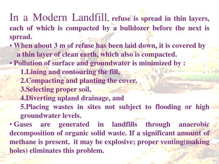In a Modern Landfill