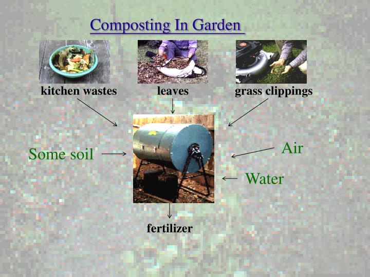 kitchen wastes             leaves               grass clippings