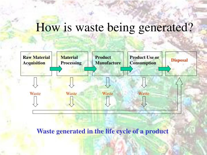 How is waste being generated?