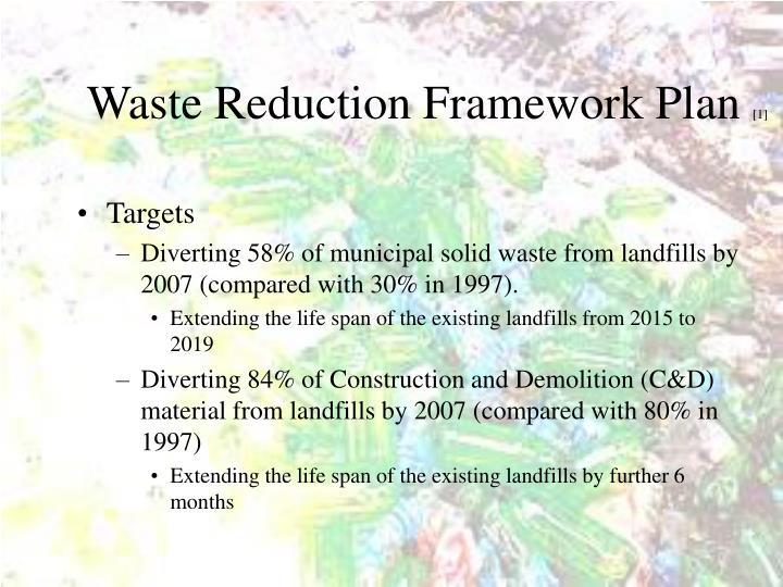 Waste Reduction Framework Plan