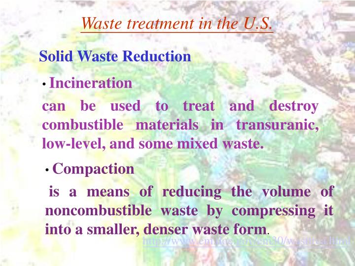 Waste treatment in the U.S.