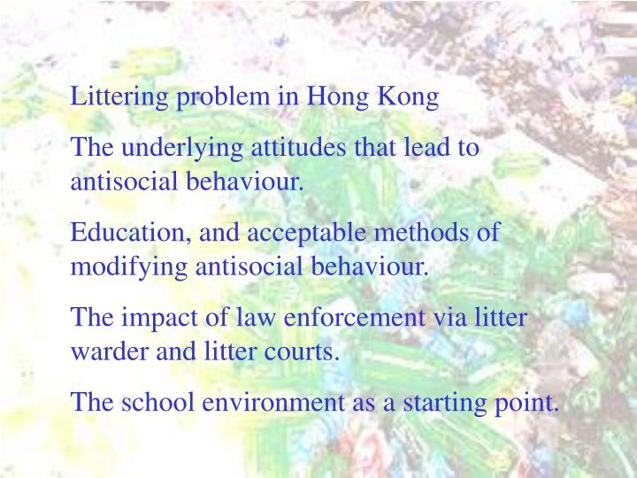 Littering problem in Hong Kong