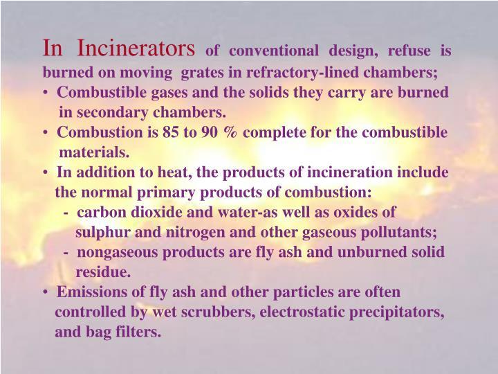 In Incinerators