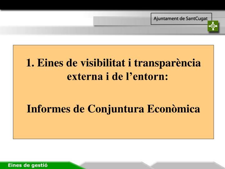 1. Eines de visibilitat i transparència externa i de l'entorn: