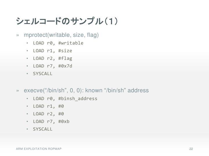 シェルコードのサンプル(1)