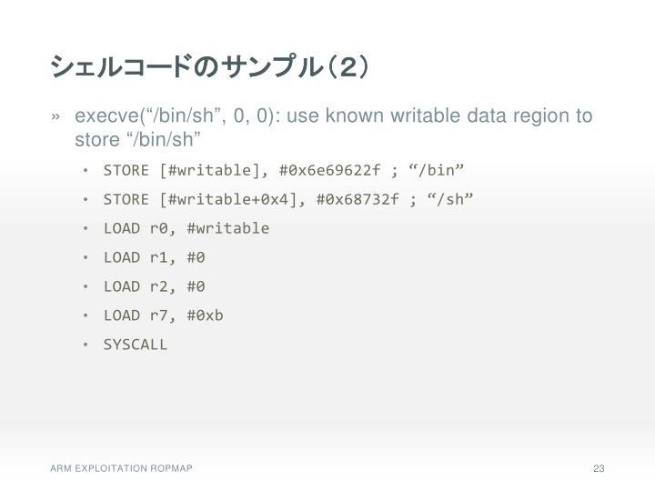 シェルコードのサンプル(2)