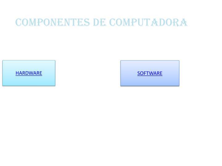COMPONENTES DE COMPUTADORA