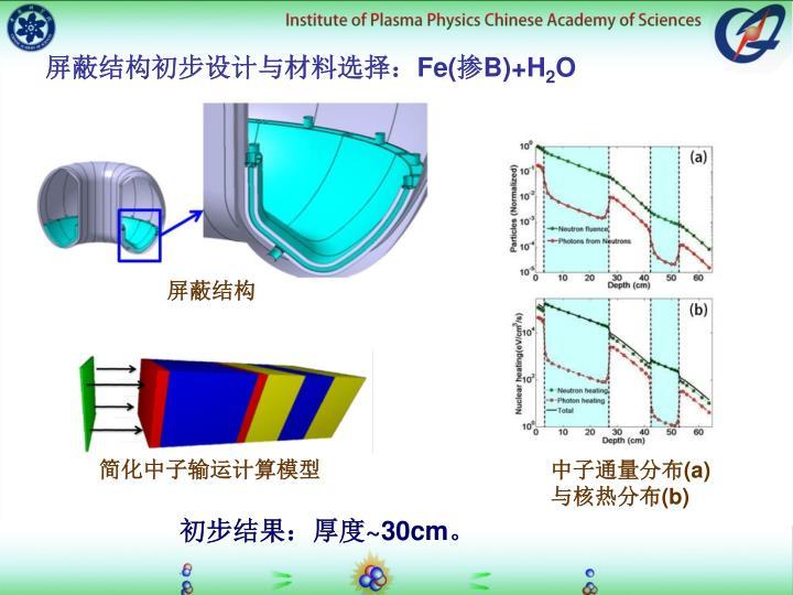 屏蔽结构初步设计与材料选择: