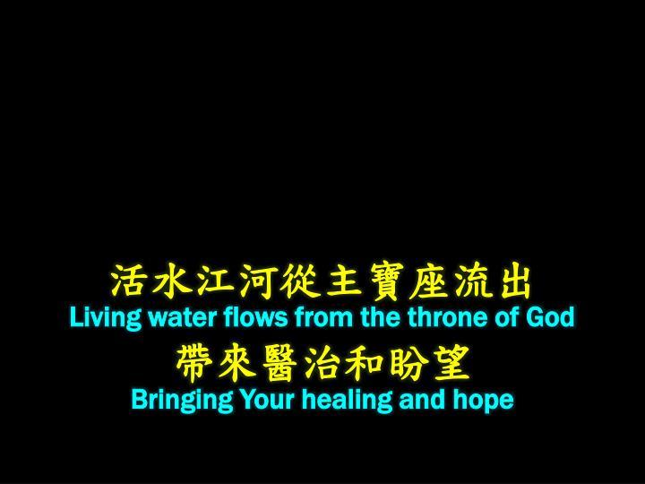 活水江河從主寶座