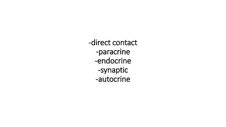 -direct contact