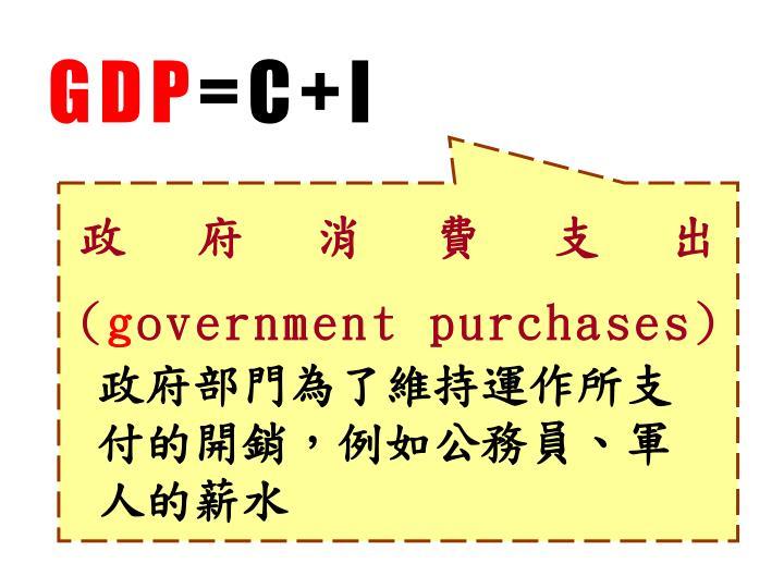 政府消費支出