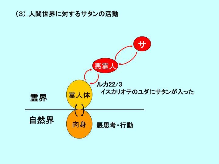 (3) 人間世界に対するサタンの活動