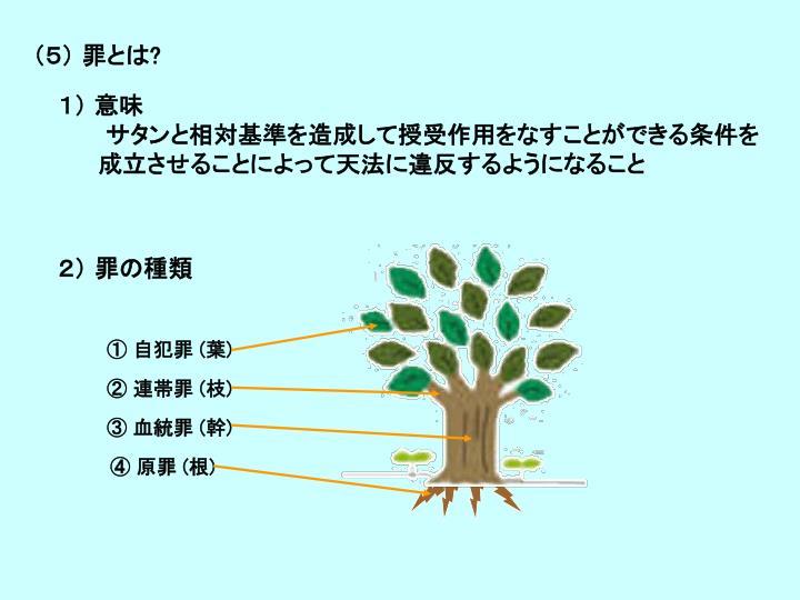 (5) 罪とは