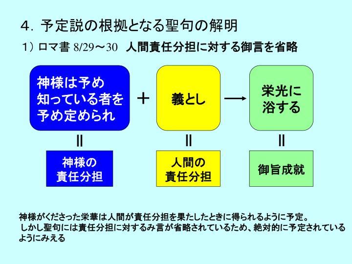 4.予定説の根拠となる聖句の解明
