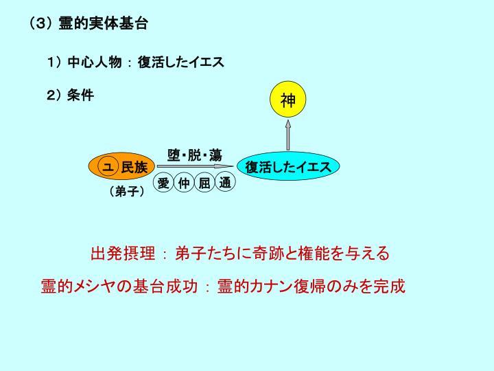 (3) 霊的実体基台
