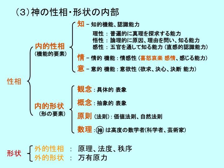 (3)神の性相・形状の内部